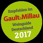 Empfohlen im Gault&Millau Weinguide Deutschland 2017